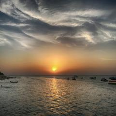 Закат в Индийском океане