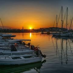 Закат на Крите.