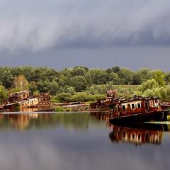 Кладбище кораблей. Чернобыль.