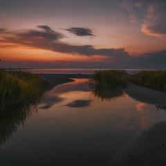 Прогулка к вечернему заливу