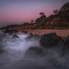 Гламурный берег Азовского.Перед рассветом.