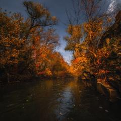 Убежать с рекою в осень...