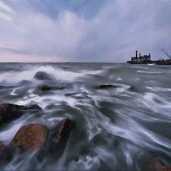 Морской пейзаж-под живопись