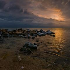 Январским вечером в заливе