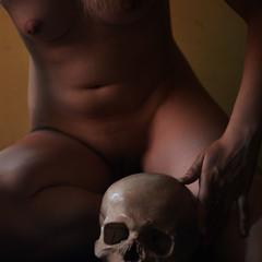 Поетка і гіпсовий череп