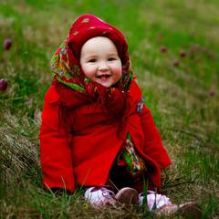 посмішка та весняні квіти