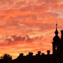 Закат в Вильнюсе
