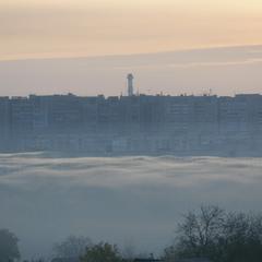Утро с туманной рекой.