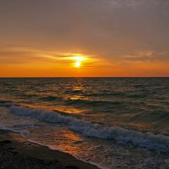 Морской рассвет.