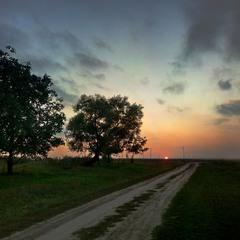 Першожовтневий захід сонця