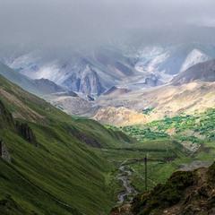 Вид на горную долину