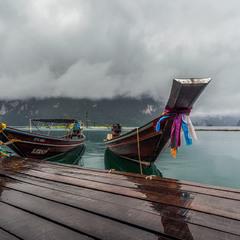 Дождливая погода...озеро Чео Лан - одно и самых красивых мест в Таиланде!