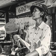 Камбоджийская женщина...