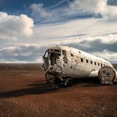 Остатки самолета DC-3 ... Исландия!