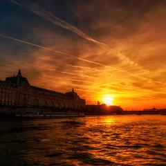 """""""Закатная""""...Сена, Париж, Франция..."""