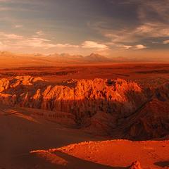 Чилийские закаты...Панорама из 5 вериткальных  кадров!