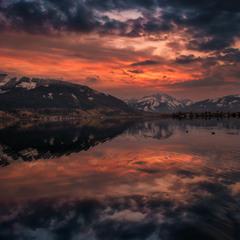 Вечер на озеро Целлер...Австрия, Цель ам Зее.