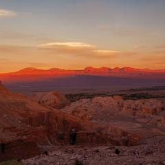 Вечерело в пустыне Атакама... Чили!