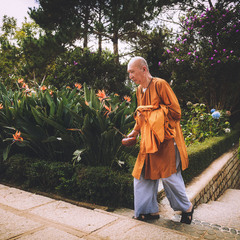 Буддийский монах...Сайгон.Вьетнам.