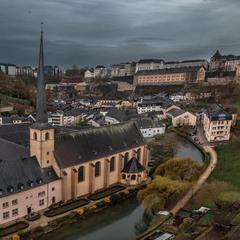 Пасмурным днем в Люксембурге...