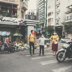 Драйверы и пешеходы...Улицами Сайгона,Вьетнам!