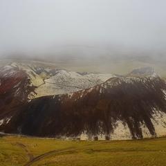 Туманное утро...Кратер Граброк.Исландия!