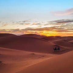 Вечерело...Марокко и пустыня Сахара!