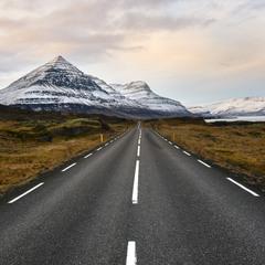 Дорога к Исландским приамидам