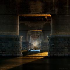Утро под мостом Патона