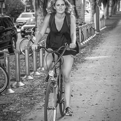 Just Bike and girl