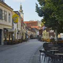 В центре Загреба, в 6 утра