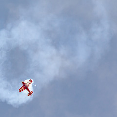 Aerobatics in the sky