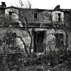 Abandoned house on the on the outskirt