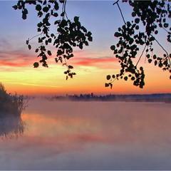 Світанок на озері 2, с.Єрки.