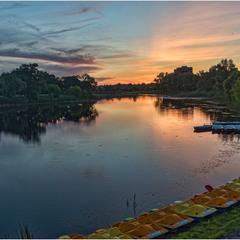 Закат над рекой Хорол