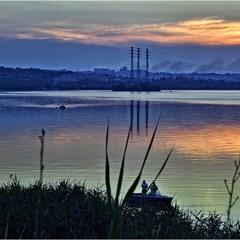 Закат над Днепром...