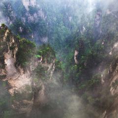 Горы, дождь и туман.
