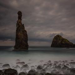 Рассвет на побережье Мадейры.