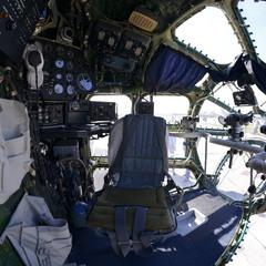 В кабине самолета-разведчика