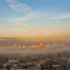 Ноябрьское утро в Дарнице.