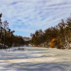Зимний пруд в хороший день...