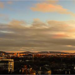 Зимний закат окраин Симферополя...