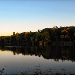 Вечерний речной пейзаж...