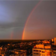 Вечерняя радуга окраины Киева...