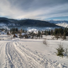 По зимней дороге в Рождество