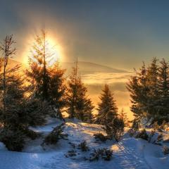 Солнечный взрыв поутру