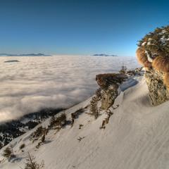 Над облачным  океаном Карпат