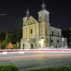 Костел ночью