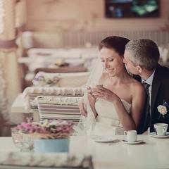 Нежная Свадьба с чашкой кофе)