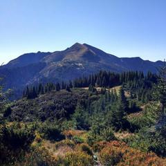 Панорама с видом на гору Поп Иван Мармаросский